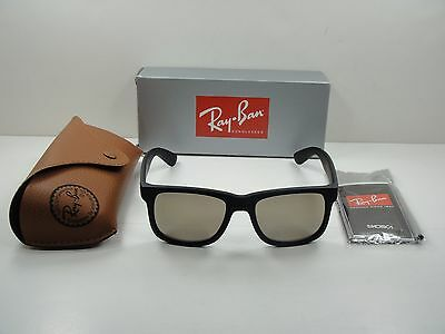 180ce622e1919 Ray-Ban Justin Sunglasses Rb4165 622 5A Black Frame Gold Mirror Lens 55Mm