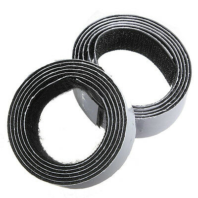 1m x20mm Self Adhesive Sticky Hook And Loop Roll Strap Fastener, Black, 20m O2Y4