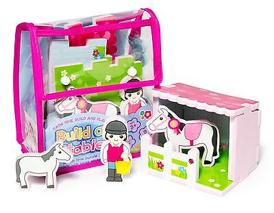 Bath Time Floating Toy Build & Play Horse Stable w/ EVA Foam Puzzle Meadow Kids