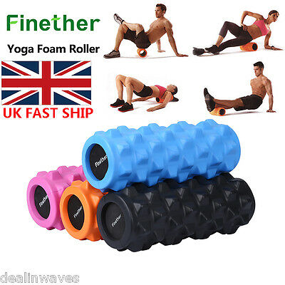 Yoga Foam Roller Texture Massage Grid  EVA Exercise Trigger Point GYM Pilates UK
