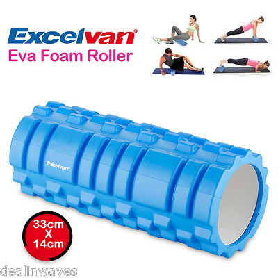 33x14cm Yoga Foam Roller Texture Massage Grid  EVA ExerciseTrigger Point GYM UK