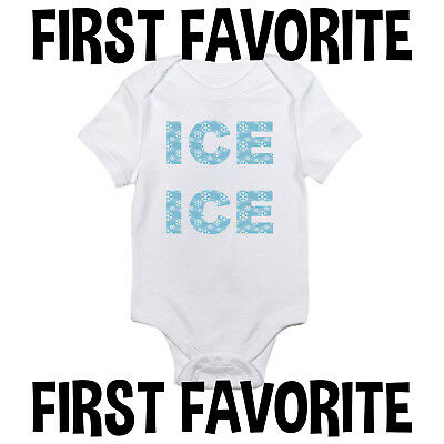 Ice Ice Baby Onesie Bodysuit Shirt Shower Gift Infant Funny Cute Gerber