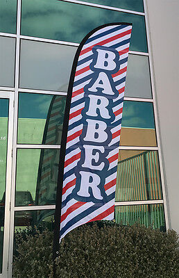 3.5m Barber Flag/ Hair Salon Sign Flag Banner (Excl. Pole & Base)-Ready to Ship!