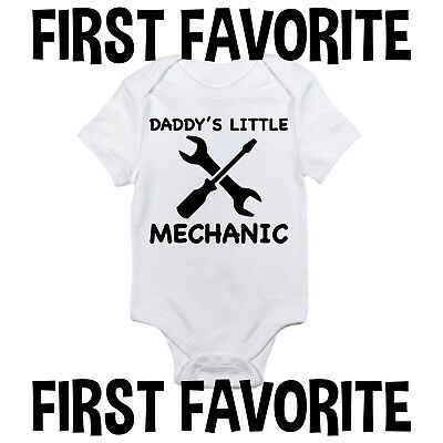 e5467b0d8 DADDY MECHANIC BABY Onesie Bodysuit Shirt Dad Father Shower Gift ...