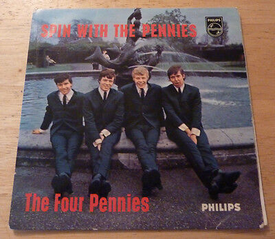 """7"""" 45 vinyl single The Four Pennies Spin With UK EP EX/EX+"""