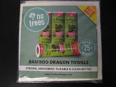 NEW True Earth Paper Dragon Towels Sample Pack - REUSABLE WASHABLE