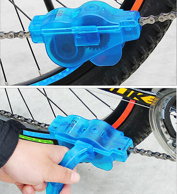 Mountain Cycling Bicycle Bike Chain Cleaner Scrubber Washer w Rotating Brushes