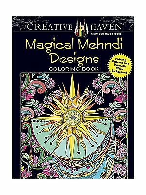 Creative Haven Magical Mehndi Designs Coloring Book Striking P Free Shipping