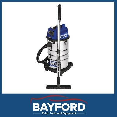 Kincrome Garage 30L Wet And Dry Stainless Steel Vacuum 12 Warranty