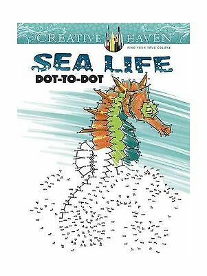 Creative Haven Sea Life Dot To Adult Coloring Free Shipping