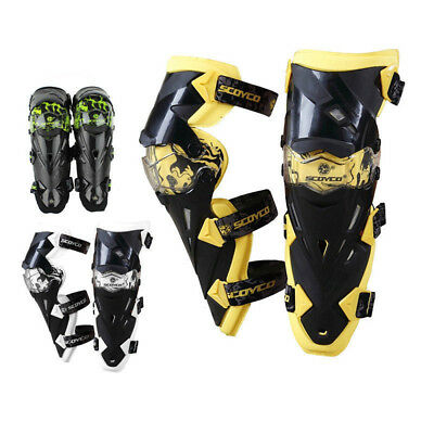 Motorcycle ATV Racing Motocross Knee Pads Protective Guards Armor Gear SCOYCO
