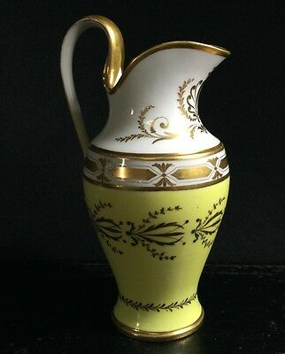 La Courtille neo-classical jug, yellow ground, ex Gardiner Collection, c. 1790