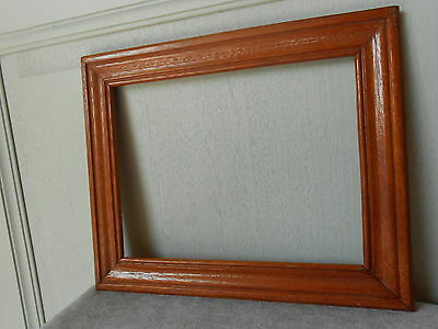 Vintage french MAHOGANY PLAQUE PEDIMENT FRAME