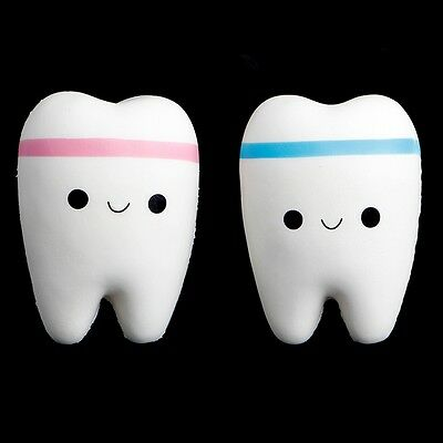 1Pc Tooth Toy Phone Pendant Jumbo Squishy Slow Rising Squeeze Stress Hand Soft