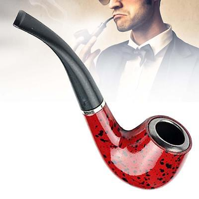 Wooden Enchase Smoking Durable Pipe Tobacco Cigarettes Cigar Pipes New Gift DA