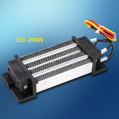 200W DC 12V Electric Ceramic Thermostatic PTC Heating Element Solid Gas Heater S