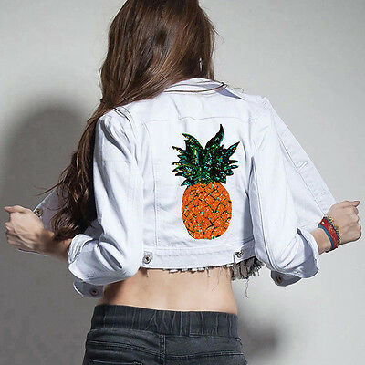 Pineapple DIY Embroidered Sew Iron on Patch Badge Bag Clothes Dress Applique