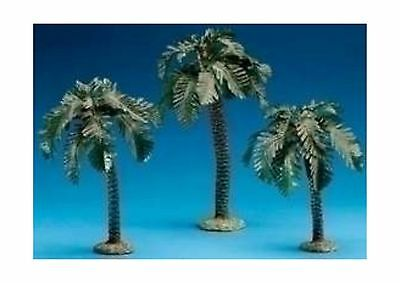 "3 Piece Set Palm Trees Single Trunk 5"" Scale Small/Med/Tall Fon... Free Shipping"