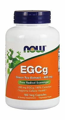 NOW EGCg Green Tea Extract 400 mg180 Veg Capsules 180 Free Shipping