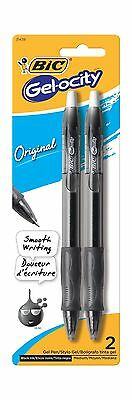 BIC Gel-ocity Retractable Gel Pen Medium Point (0.7 mm) Black 2... Free Shipping