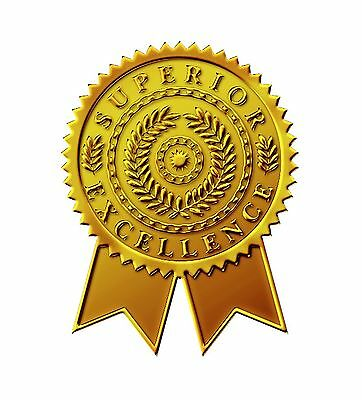 Great Papers! Starburst Ribbon Embossed and Gold Foil Certifica... Free Shipping