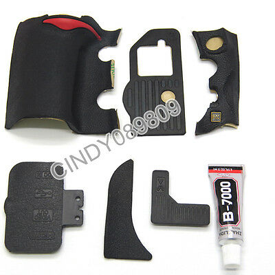 A Unit of 6 Pieces for Nikon D700 Grip Rubber Unit USB Rubber With 3M Tape+Glue