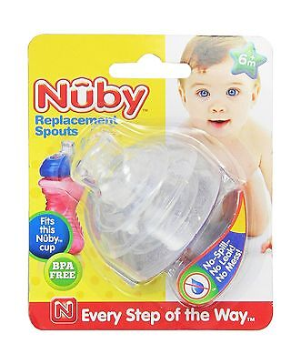 Nuby 2-Pack Super Spout Standard Top Replacements Pack of 1 (2) Free Shipping