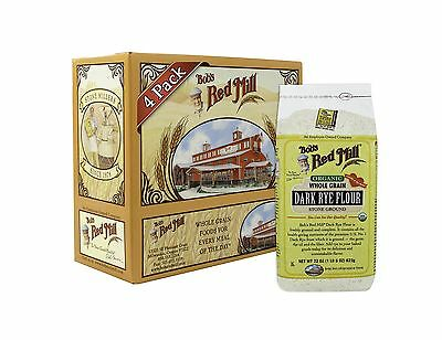 Bob's Red Mill Organic Dark Rye Flour 22 Ounce (Pack of 4) Free Shipping