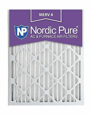 Nordic Pure 16x24x2M8-3 MERV 8 Pleated AC Furnace Air Filter 16... Free Shipping