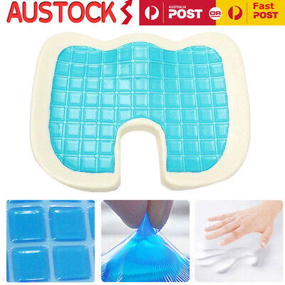 Gel Cooling Memory Foam Contour Seat Cushion Pain Relief Car Chair Support Pad