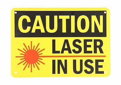"""SmartSign Plastic OSHA Safety Sign Legend """"Caution: Laser in Us... Free Shipping"""