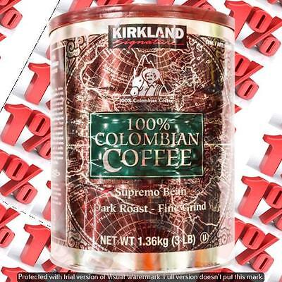 1x Kirkland Signature 100% Colombian Ground Supremo Coffee - 1.36 KG