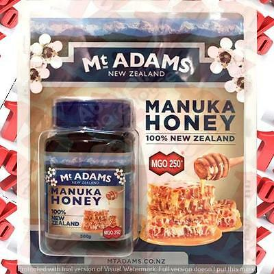1x Mount Adams New Zealand Manuka Honey MGO 250+ - 500 G