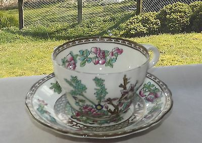 Coalport Bone China Indian Tree Pattern Breakfast Cup & Saucer