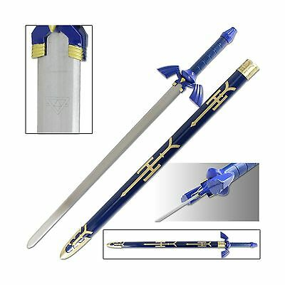 Legend of Zelda Link Master Sword of Time - Real Carbon Steel V... Free Shipping