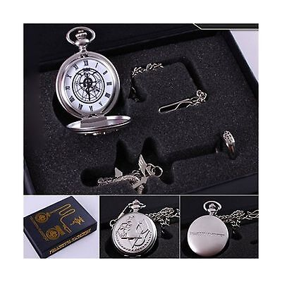 OliaDesign Fullmetal Alchemist Anime Pocket Watch Necklace & Ring Free Shipping
