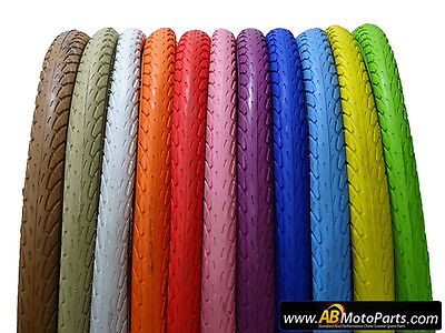 Bicycle Tires, 26x1.75 Road Tyres, Multiple Colours, TUBE INCLUDED