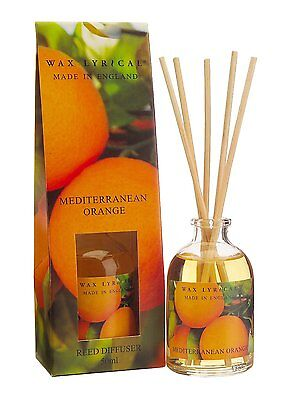 Wax Lyrical MEDITERRANEAN ORANGE Made in England Reed Diffuser 50ml