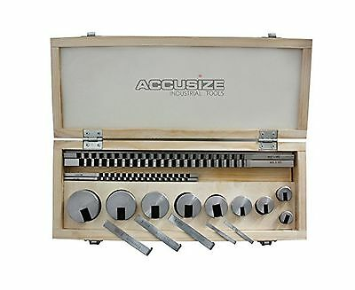 Accusize - No.10 18 ps/set HSS Keyway Broach Sets in Fitted Box... Free Shipping