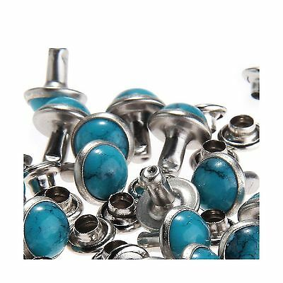 RUBYCA Blue Turquoise Rapid Rivets Studs DIY Leather-Craft for ... Free Shipping