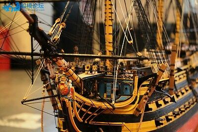 "H.M.S Victory 1805 54.5"" Scale 1/72 1385mm  Wood Model Ship Kit"