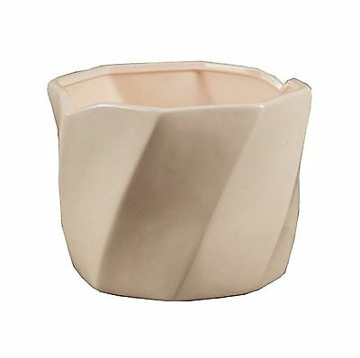 Napco Ceramic Hexagon Planter Small White Free Shipping