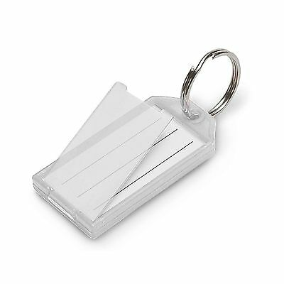 Lucky Line Key Tag with Flap and Split Ring 10-Pack Clear (6051... Free Shipping