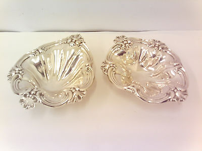 Victorian English Soild Silver Ebmossed Shell Dish's London 1894.  145g