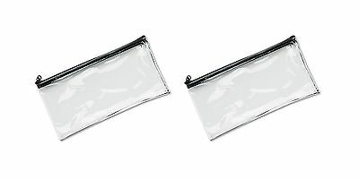 MMF Industries Vinyl Zipper Wallet 11 x 6 Inches Clear (2340417... Free Shipping