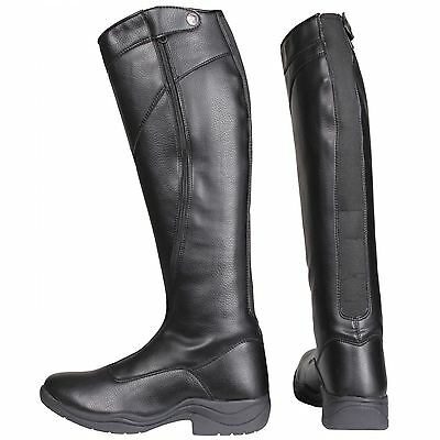 Horka Rijlaars Ladies Tall Horse Riding Outdoor Long Zip Synthetic Stable Boots