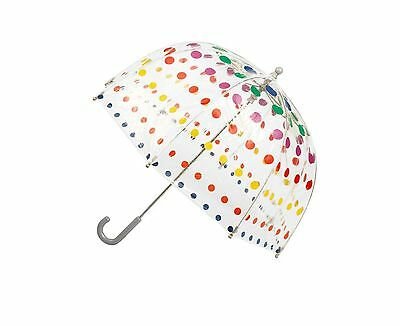 """Totes Kids Bubble Umbrella Primary Dots 38"""" Canopy Free Shipping"""
