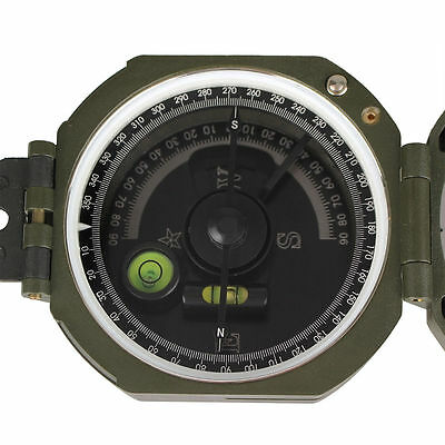 SNBONY Orientierung Pocket Transit Plastic Compass for Surveyors Foresters Green
