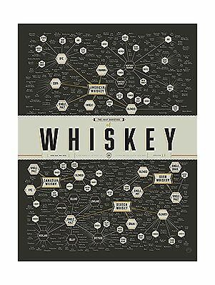 """Pop Chart Lab """"The Many Varieties of Whiskey"""" Poster Print 18"""" ... Free Shipping"""