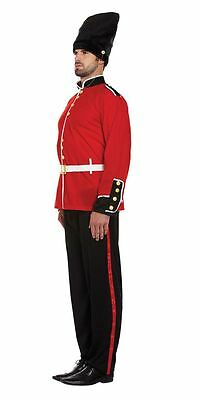 Mens Busby Guard Soldier Costume Buzby Outfit Stag Night Fancy Dress Party